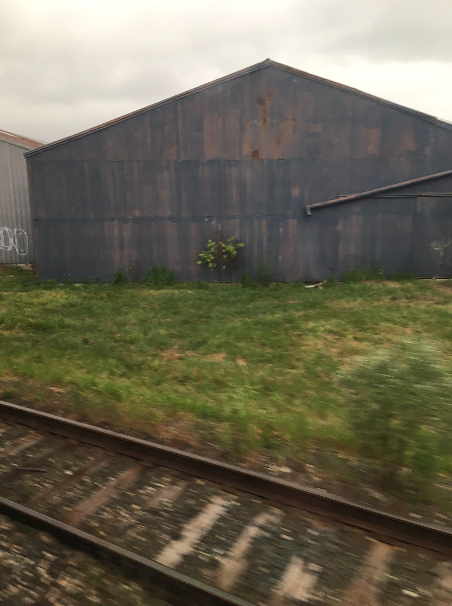 Barn on Train